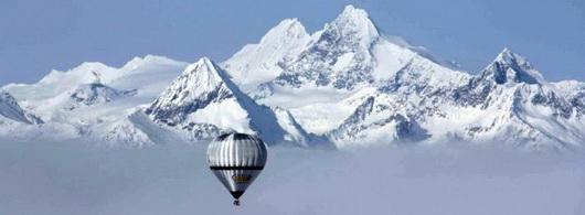 Cordillere des Andes en montgolfiere