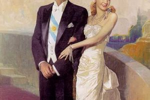 Juan Domingo Peron et Evita