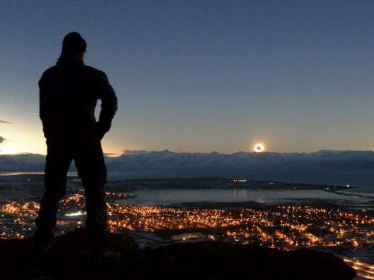eclipse totale du soleil Patagonie