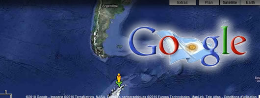 google street view antarctique