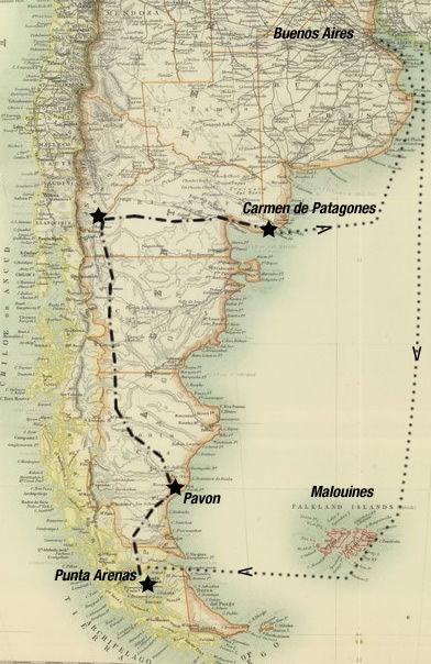 George Musters en Patagonie