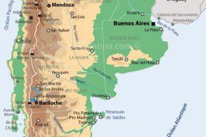 carte d'Argentine