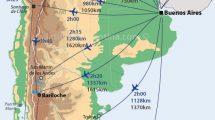 carte des vols et des distances en Argentine