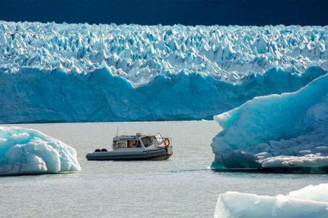 traversée le long du glacier