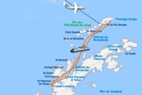 vol croisiere antarctique