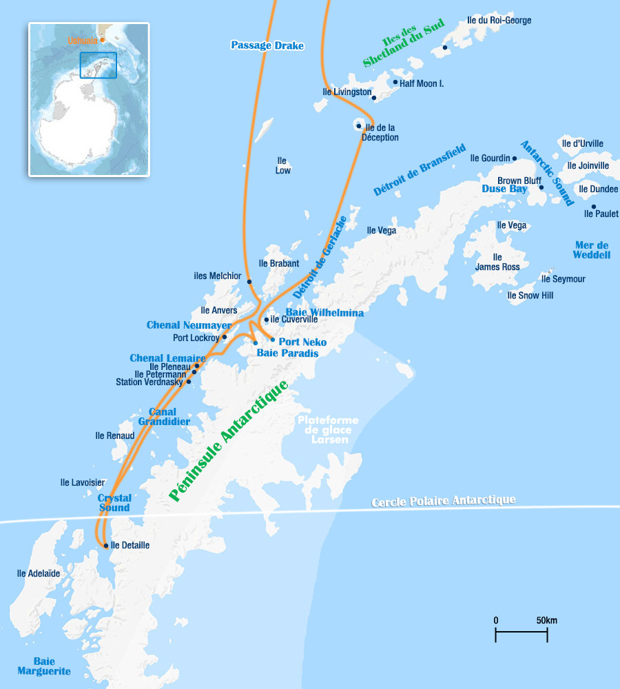 Croisière Antarctique au Cercle Polaire